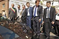 Parco Valentino - Salone & Gran Premio - Car Show dell'aria aperta a Torino Immagine Stock Libera da Diritti