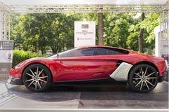 Parco Valentino - Salone & Gran Premio - Car Show för öppen luft i Turin Fotografering för Bildbyråer