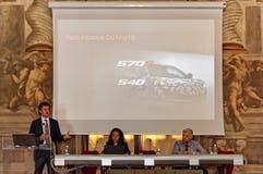 Parco Valentino - Salone & Gran Premio - Openluchtcar show in Turijn Stock Afbeeldingen