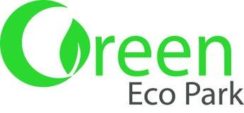 Parco verde e logo di Eco Fotografie Stock Libere da Diritti