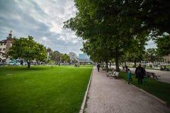 Parco verde a Stuttgart Fotografia Stock Libera da Diritti