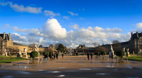 Parco vicino ad Arc de Triomphe du Carrousel Fotografie Stock Libere da Diritti