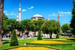 Parco vicino a Hagia Sophia Fotografie Stock Libere da Diritti