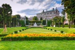 Parco a Vienna Austria Fotografie Stock Libere da Diritti