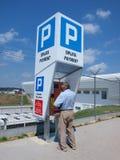 Parcomètre, Lublin, Pologne Image libre de droits