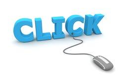 Parcourez et cliquetez - la souris grise Photos libres de droits