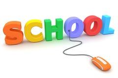 Parcourez l'école colorée - souris orange Image stock