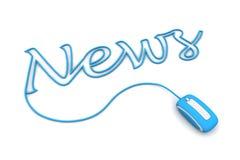 Parcourez le câble bleu de nouvelles Images stock