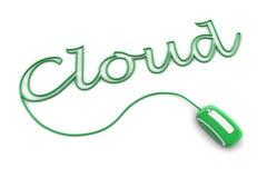 Parcourez le câble vert lustré de nuage illustration stock