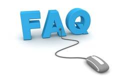 Parcourez le FAQ - souris grise Photographie stock libre de droits