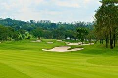 Parcours ouvert dans le terrain de golf Image libre de droits