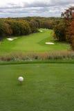 Parcours ouvert de golf en automne Photo stock