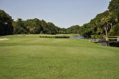 Parcours ouvert de terrain de golf photographie stock libre de droits