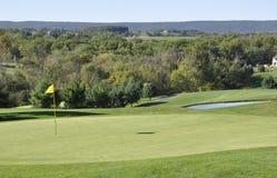 Parcours ouvert de terrain de golf Photo stock