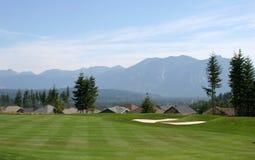 Parcours ouvert de terrain de golf Photos libres de droits