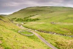 Parcs à moutons supérieurs de Coquetdale Image libre de droits