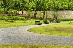 Parcs et chaises Image libre de droits