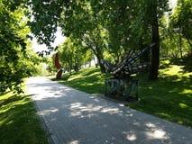 Parcul巨人在BucureÈ™ti 库存照片