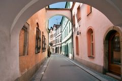 Pardubice old street Royalty Free Stock Photo