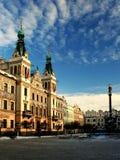 Pardubice - het oude deel van stad Stock Afbeelding