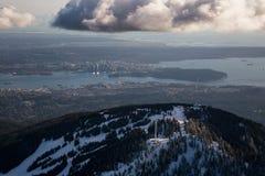 Pardwa ośrodka narciarskiego Halna antena Fotografia Royalty Free