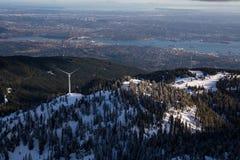Pardwy góra z Vancouver śródmieściem w tle Fotografia Stock