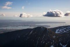 Pardwy góra z Vancouver śródmieściem w tle Zdjęcie Royalty Free