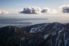 Pardwy góra z Vancouver śródmieściem w tle Zdjęcia Royalty Free