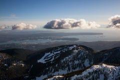 Pardwy góra z Vancouver śródmieściem w tle Obraz Royalty Free