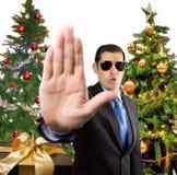Pare ao Natal fotografia de stock