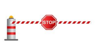 Pare a barreira da estrada, Foto de Stock