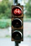 Pare a bicicleta do sinal imagens de stock royalty free