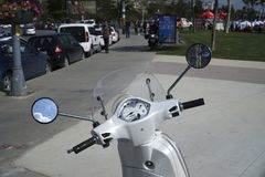 Pare-brise de cadran de Vespa et détails de miroirs Photos libres de droits