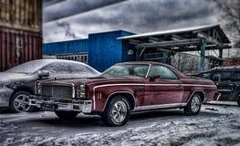 Pare-chocs avant de voiture de muscle de camino d'EL de Chevrolet, lumière et détail de roue images libres de droits