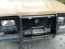 Pare-chocs de tête de camion d'Aro avec la vitesse photos stock