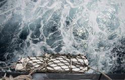 Pare-chocs sur un bateau expédiant Photographie stock