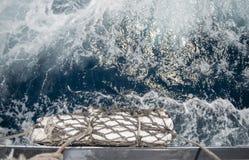 Pare-chocs sur un bateau expédiant Photo stock