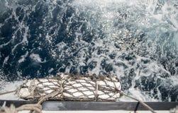 Pare-chocs sur un bateau expédiant Photos stock