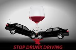 Pare conceito de condução bêbado Imagens de Stock Royalty Free