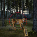 Pare de caçar a ilustração do animal dos animais selvagens Fotografia de Stock
