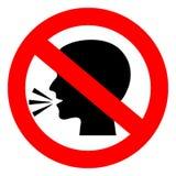 Pare de falar o sinal do vetor ilustração royalty free