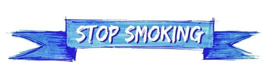 pare de fumar a fita ilustração royalty free