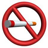 Pare de fumar o sinal 3D Fotografia de Stock
