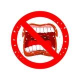 Pare de gritar Proibe-se ao grito e jura-se Cruzar-aberto ilustração royalty free