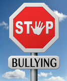 Pare de não tiranizar nenhuma intimidação de escola Imagem de Stock Royalty Free