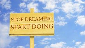 Pare de sonhar fazer do começo ilustração royalty free
