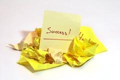 Pare e comece sobre na maneira ao sucesso Fotos de Stock