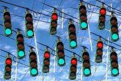 Pare e vá luzes Imagem de Stock Royalty Free