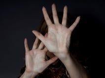 Pare el abusar de mujeres Imagen de archivo