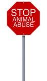 Pare el abuso animal Fotografía de archivo